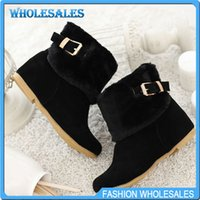 Wholesale New Autumn boots Winter Western Square toe Increased Button Striped PVC White beige Pink Leisure Casual Sexy Buckle Fur Hot