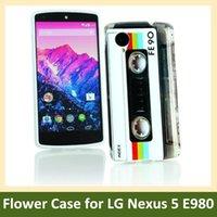 cassette case - Retro Cassette Tape Radio Flower Print Soft TPU Gel Cover Phone Case for LG Google Nexus E980