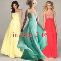 Model Pictures cheap long prom dresses - 2015 Cheap IN STOCK Prom Evening Dresses with Lace up Back A Line Sweetheart Beaded Pleated Long Red Yellow Blue Formal Party Dresses