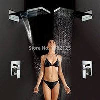 Wholesale Luxury Classic Antique Brass Concealed Bathroom Shower faucet in wall rain shower