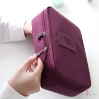 Wholesale Women s Lady Travel Makeup Bags Cosmetic Bag Pouch Waterproof Handbag Casual Purses Admission package with Zipper DHL