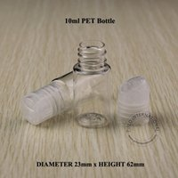 plastic shampoo bottles - 10ML Transparent Press Cap Bottle Clear Plastic Lotion Sub bottling Empty Cosmetic Shampoo Container With Screw Lid