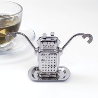 stainless steel manufacturers - Manufacturer Direct Tea Infusers Stainless Steel Cute Tea Robot Infuser Recyclable Tea Strainers Wedding Party Gift Favor