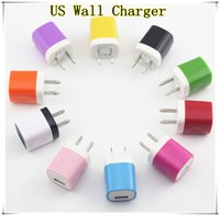 Wholesale Dual Color US Wall Charger AC Home power adapter For iphone samsung htc ipod colors charger adapter up