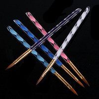 best acrylic brush - Best Price Hot sale Way Acrylic Nail Art Pen Brush Cuticle Tips Set L0071