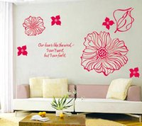 accent wall decor - Camellia Flowers Room Wall Sticker Paper Decor Accents Decals Removable Art Kid