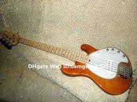 Brown Flame Top <b>Music Man StingRay</b> 5 Bajo Eléctrico Nuevas Guitarras al por mayor de la llegada MEJOR