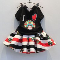 Wholesale 2015 Summer New Chinese Style Peking Opera painted Face Patch T shirt Skirt Dress Two piece Mask