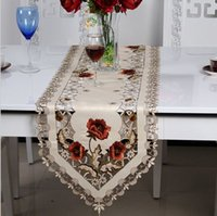 track order - Hot Sale Elegant Polyester Embroidery Table Runner Embroidered Floral Cutwork Table Cloth Linen Covers Runners order lt no tracking