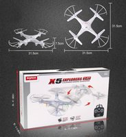 Wholesale 2015 Hot Sale SYMA X5C Upgraded syma X5C G CH Axis Professional aerial RC Helicopter Quadcopter Drone Without camera