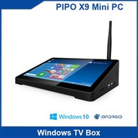 android retailers - Latest PIPO X9 Mini PC Windows amp Android Dual OS Intel Z3736F Quad Core TV Box GB GB with Retailer BOX