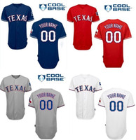 texas rangers - Customs Men Cool Base Texas Rangers MLB Personalized Customized Man Baseball Jerseys Embroidery Any Name and No