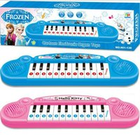 Wholesale Baby Boys Girls Musical Instruments Toys Children Anna Elsa Cartoon Electronic Organ keyboard Gifts Kids Piano Songs L0860