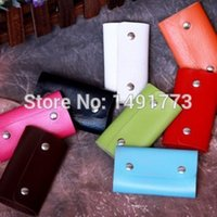 Wholesale 3pcs Useful car styling Key wallets Pu leather Five colors men and women loved Key holders size cm