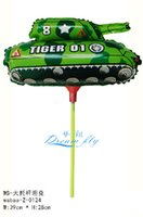 balloon air tank - New HOT SELL inch tank foil balloon within stick cartoon balloon hot air balloon