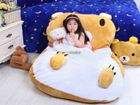 Wholesale Fancytrader cm X cm Cute Soft Lovely Plush Rilakkuma Bed Carpet Tatami Mattess for Kids FT50337