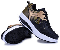 Wholesale New Spring Summer Platform Shoes Women Fashion Sneakers Sport Shoes Ladies Breathable Fitness Shoe Girls Weight Reducing Shoes Walking Shoe