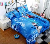 Ruffle kids cartoon bedding set - 2015 D Cartoon Kid Child Bedding Sets Princess Elsa Anna Olaf Frozen Full Queen King Size MYF21