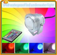 Wholesale Underwater led lights for fountains IP68 marine underwater led light DC12V W RGB LED Underwater dhl free