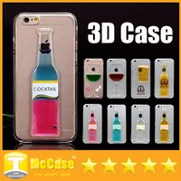 Wholesale Colorful Exclusive D Red Wine Cup Liquid Transparent Hard Case Cover For Apple iPhone plus Phone Cases Flowing Wine Back Covers