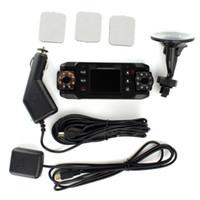 LCD Screen 2 channel dvr - HD X8000C Dual Lens Camera Car DVR Cam Dash Vehicle Video Recorder GPS G Sensor