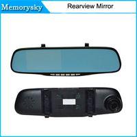 auto navigator - 1080P Car Camera Blue Rear view Mirror Digital Video Recorder Auto Navigator Degree Wide Angle Car DVR in stock