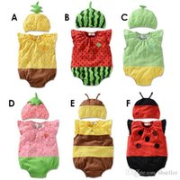 Wholesale Hot Baby Rompers Girl Clothing Set Fruit Romper Hat Infant Baby Boys Clothes Babies Rompers Roupas Jumpsuit For Newborn Q17 A5