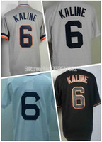 Wholesale 30 Teams Men s Al Kaline Jersey Detroit Baseball Jerseys Throwback black white Embroidery Logos