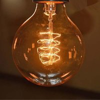 arte light - 2 Edison Tungsten Globe Filament Vintage Antique E27 Light Bulb G80 Arte Home Decoration