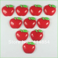 Holiday Decoration & Gift Christmas Other Bulk 50 pcs the Red Apple Resin Cabochon Flatbacks Flat Back Scrapbooking Girl Hair Bow Center Crafts Making Embellishments DIY