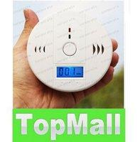 Wholesale CO Carbon Monoxide Detector Alarm System For Home Security Poisoning Smoke Gas Sensor Warning Alarms Tester Sensor LED LLFA103