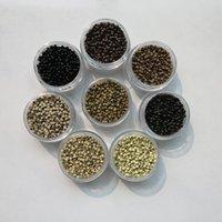 1000pcs / Micro cuivre anneau nano lien perles Extensions de cheveux outils 2.5mmx1.5mmx1.6mm Sac 7 couleurs