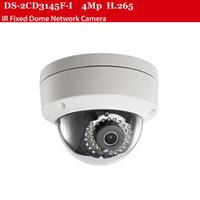 Wholesale 4mp H DS CD3145F I POE CCTV camera Fixed IR Dome meter security camera system supported hikvision nvr cms imv4200