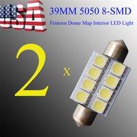 car dome light - 39mm Length mm Width Reading Light Chips SMD Dome Light for Car V Pure White LED Light