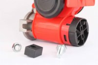 Wholesale Car Truck V Red Ultra Compact Dual Tone Electric Pump Vehicle Siren Air Loud Horn M9449