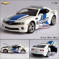 diecast model car - New Chevrolet Camaro Police Car Alloy Diecast Model Car Toy Collection With Box White B377