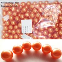 bath products lot - Hot g Orange Pearl Round shaped Bath Oil Beads Floral Fragrance Bath SPA Products Bath Pearls