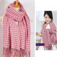 Wholesale Western Style Retro Scarf Swallow Gird Pattern Long Scarves Autumn Winter Fashion Women Wrap