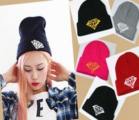 Cheap DIAMOND hip-hop wool Hat knitted autumn Sport Ski Skull caps wonem men New Arrival Fashion Xmas gifts 10pcs lot