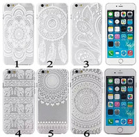 pattern tattoo designs - Tattoo Pattern Flower Elephant Design Soft TPU Rubber Back Cover Case for Apple iPhone5 iphone6 inch iphone Plus inch Mix Color