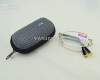 Wholesale 10pcs High quality Metal folding reading glasses with pouch