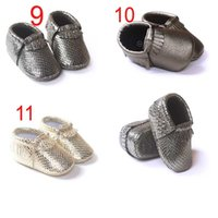 Wholesale Baby moccasins soft leather moccs baby booties toddler first walker shoes