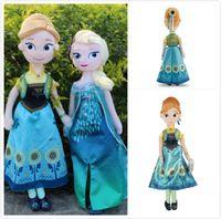 Wholesale EMS hot elsa anna Christmas gift toy doll Frozen Fever Stuffed toys Dolls cm Elsa Anna toy Plush Dolls for Children