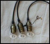 al por mayor interruptores de perillas-Lámpara ligera pendiente + Wire + Ceiling Base de la lámpara de los bulbos de Edison E27 Edison de la venta al por menor Bar / Pub / Club / Café / Tienda /