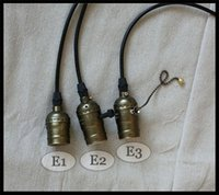 bedroom bar club - Vintage Retro E27 Edison Bulbs Pendant Light Lamp Holder Wire Ceiling base Bar Pub Club Coffee Shop Home knob switch pull chain promotion