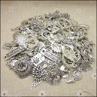 al por mayor nuevos diseños de joyería de la vendimia-El nuevo encanto caliente de la plata de la vendimia de las PC 40-80 mezcló el colgante DIY de la aleación 100g para la fabricación de la joyería del collar de la pulsera
