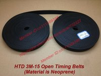 Wholesale 10Meters HTD M Open ended Timing Belt width mm Neoprene with fiberglass core M Timing belt pulley