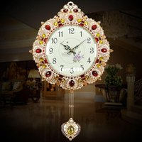 antique garden swing - 100 real picture Annabel upscale watches fashion living room European style retro queen decorative garden wall clock swing clock
