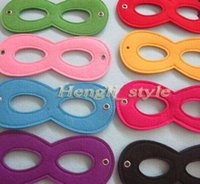 Wholesale High Quality Various Colors Superhero Kids Eyes Masks Masquerade Masks Party Cosply Eye Masks Eye Shades for Superhero Capes