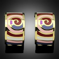 enamel paint - 2015 New Europe and the United States foreign trade earrings adorn article Enamel painted jewelry